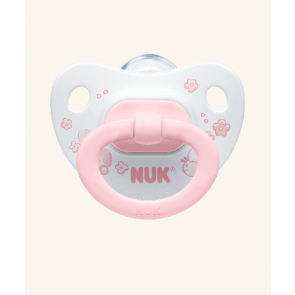 NUK Baby Rose Silicone Soother Age Group 1 (TWIN Pack)