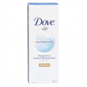 Dove Essential Nutrients Protective Tinted Moisturiser SPF 15+ Honey 50mL