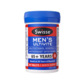 Swisse Mens Ultivite 65+ 60 Tablets