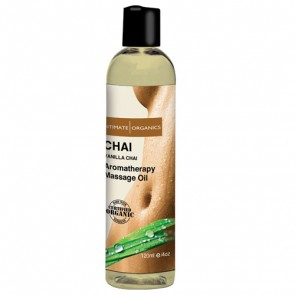 Intimate Organics- Chai Massage Oil Vanilla and Chai 120mL