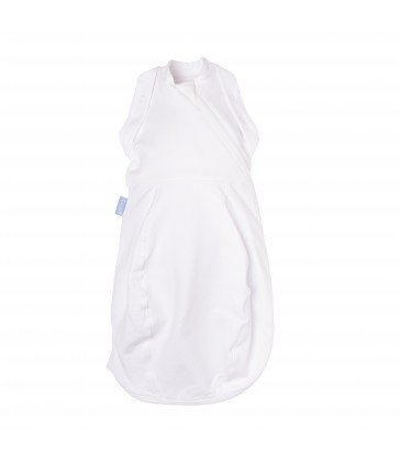 Gro Newborn Swaddle GroBag Cosy- Pure White