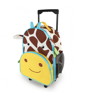 Skip Hop Zoo Kid Rolling Luggage - Giraffe