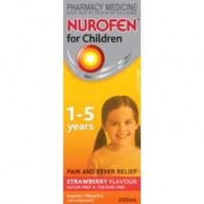 Nurofen for Children Suspension 1-5 Years 200ml Strawberry
