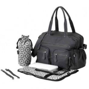 OiOi Charcoal Faux Buffalo Carry All Nappy Bag (6596)