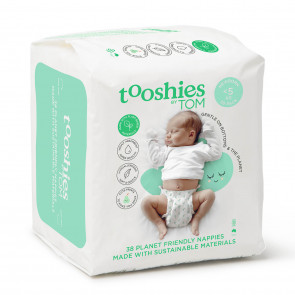 Tooshies by TOM eco Nappies- Newborn Size 1 BULK (38pk x 4)