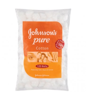 Johnsons & Johnsons Cotton Ball White 120 Pack