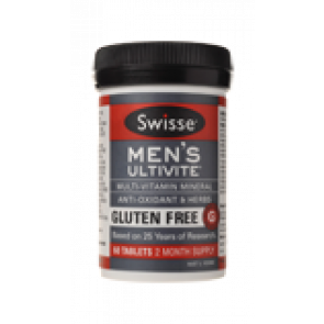 Swisse Mens Gluten Free Ultivite 60 Tablets