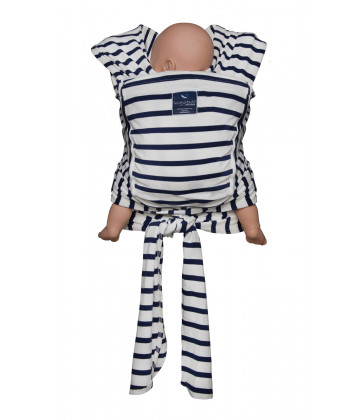 Hug A Bub Certified Organic Pocket Wrap Carrier - French Sailor Stripe