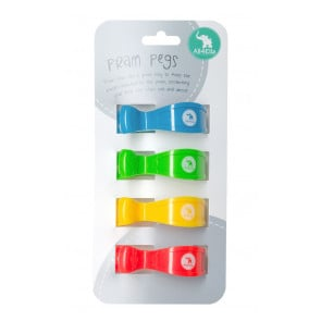 All4Ella Pram Pegs 4 Pack- Multi Train