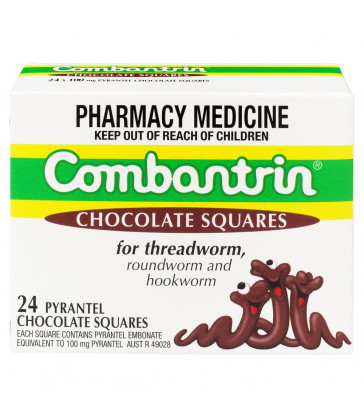Combantrin Chocolate Squares 24 Pack