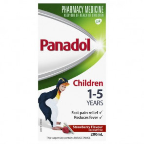 Panadol Children Colour-Free Suspension 5 to 12 Years - 200 ml - STRAWBERRY