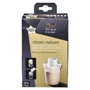 Tommee Tippee Closer to Nature Milk Powder Dispenser (6 pack)