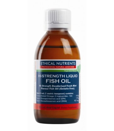 Ethical Nutrients Hi-Strength Liquid Fish Oil 170ml Fresh Mint Flavour