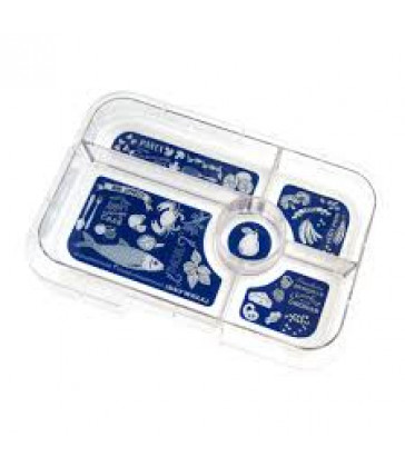 Yumbox Tapas Interchangeable Tray - Blue Bon Appetit  Tray 5 Compartment