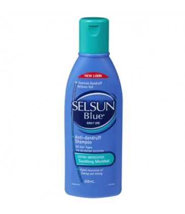 Selsun Blue Dual Action Anti Dandruff with Menthol 200mL