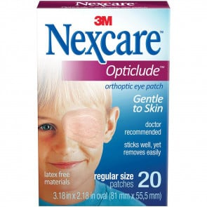 Nexcare Opticlude Eye Patch Regular 82mm x 57mm 20 Pack