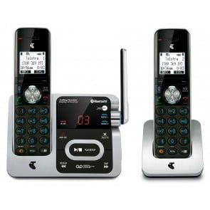 TELSTRA LONG RANGE 12750 TWIN DECT360 CORDLESS PHONE WITH BLUETOOTH MOBILE CONNECT