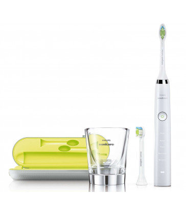 Philips Sonicare DiamondClean Rechargeable Electric Sonic toothbrush- White and Chrome