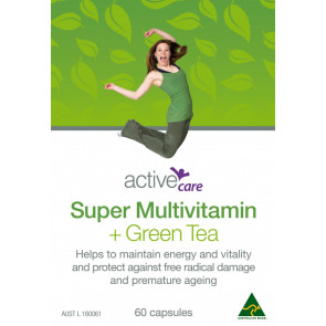 Active Care Super Multi + Green Tea 60 Capsules