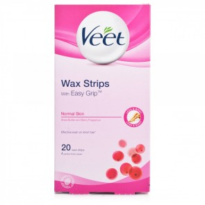 Veet EasyGrip Ready-to-Use Wax Strips Normal Skin 20 pack