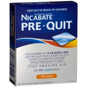 Nicabate Pre Quit Patch 21 mg 14 Pack