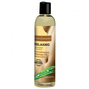 Intimate Organics- Relaxing Massage Oil Lemon Grass & Coconut 120mL