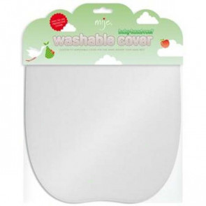 Mije Washable Cover for Baby Head Rest - White