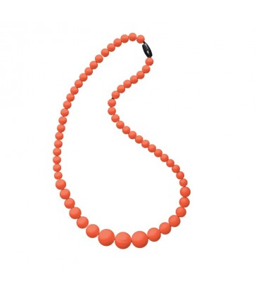 Nibbly Bits Silicone Jewellery BB Necklace- Slippery Salmon