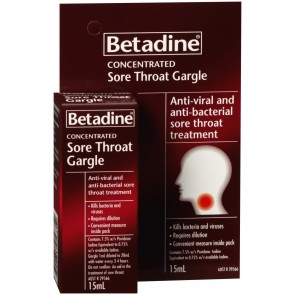 Betadine Sore Throat Gargle 15 ml
