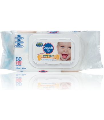 Curash Soap Free Lightly Fragranced Baby Wipes 80's
