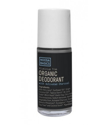 Noosa Basics Deodorant Roll On 50mL - Charcoal