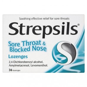 Strepsils Lozenge Sore Throat & Blocked Nose 36 pack