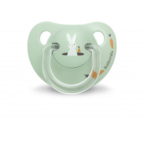 Suavinex Anatomical Soother - Pret-a-Porter Collection - 0-6M - Green Bunny