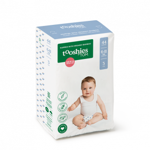Tooshies by TOM Bamboo Nappies 6-11kg - Crawler Size 3 BULK (44pk x 2)