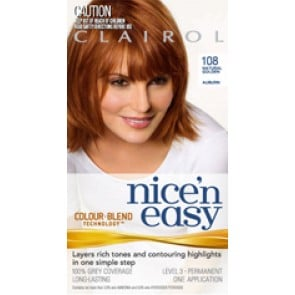 Clairol Nice 'N'  Easy 108 Natural Golden Auburn