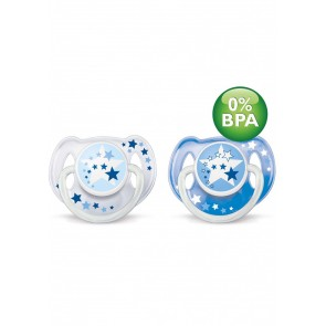 Philips Avent Soother 6 to 18 Months NIGHT TIME (2 Pack)