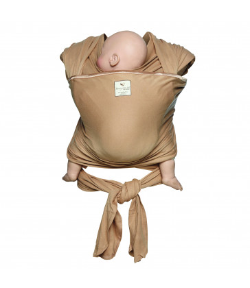Hug A Bub Certified Organic Lightweight Wrap Carrier - Latte