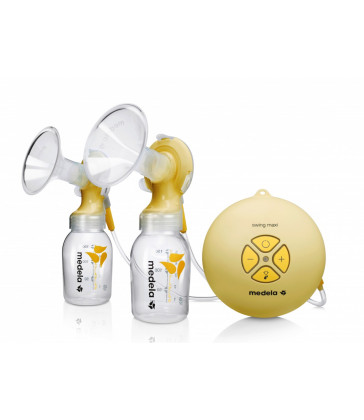Medela Swing Maxi Double Electric Breastpump (2 phase) with BONUS Calma Solitaire Feeding Device