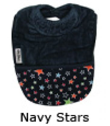 Silly Billyz Pocket Bib Towel- Navy Stars