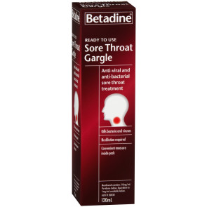 Betadine Sore Throat Gargle 120 ml