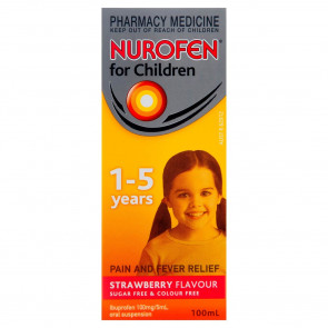 Nurofen for Children Suspension 1-5 Years 100ml Strawberry