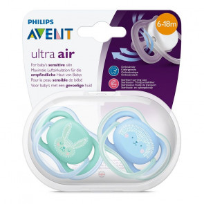 Philips Avent Soother Ultra-Air 6 to 18 Months (2 Pack) - BLUE