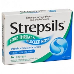 Strepsils Lozenge Sore Throat & Blocked Nose 16 pack