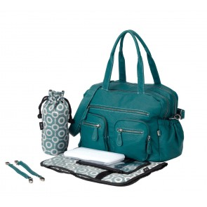 OiOi Turquoise Faux Buffalo Carry All Nappy Bag (6556)