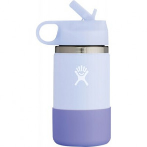 Hydro Flask Double Insulated Wide Mouth Kids Bottle with Straw Lid 355ml (12 oz) - Fog