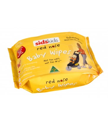 SIDS and Kids Red Nose Baby Wipes Travel Pack- Unscented 30 pack