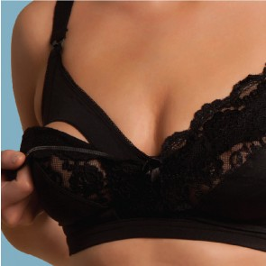 Carriwell Lace Drop Cup Bra- Black