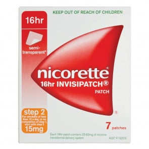 Nicorette 16 Hour 15 mg Patch 7 Pack