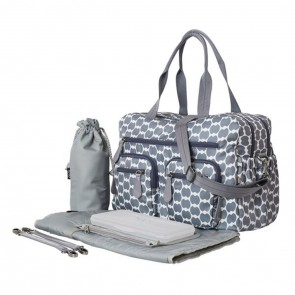 OiOi Carry All Nappy Bag Smokey Blue Eclipse Dot (6682)