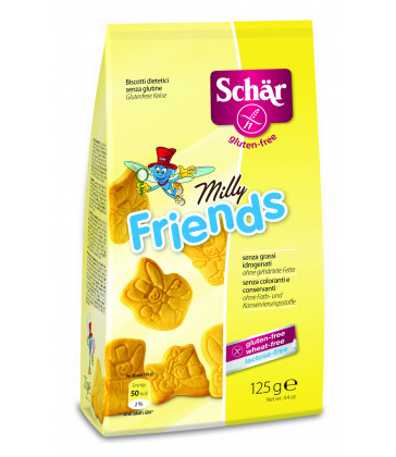 Dr Schar Milly Friends Biscuits 125g x 6